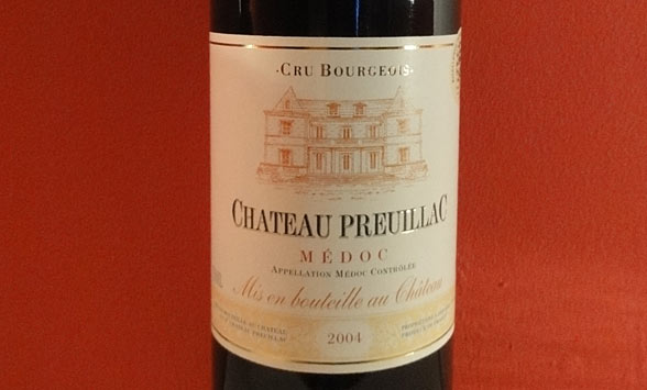 Château Preuillac Medoc 2004