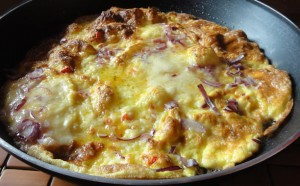 Cheese, Onion & Chilli Omelette