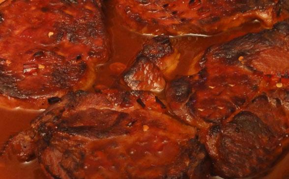 Barbecue Pork Spare Rib Chops