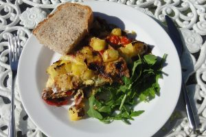 Spanish Tortilla with Bacon & Peppers
