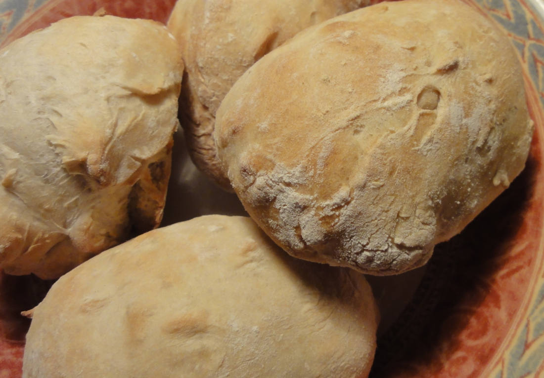 Rustic white rolls recipe
